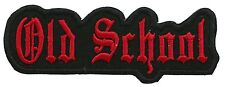 Old School biker embroidered PATCH (R)