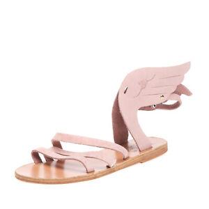 RRP €140 ANCIENT GREEK SANDALS Leather Slingback Sandals EU36 UK3 US6 HANDMADE