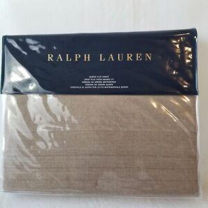 New Ralph Lauren Queen Flat Sheet - MODERN ICONS  Ruth Taupe