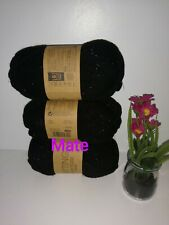 3 X Black Sparkle - Knitting Essentials - Double Knitting Wool 50g
