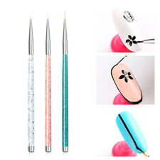 3* Nail Art Liner Brushes Pens UV Gel Polish Paint Drawing Liner Brush set HD3