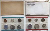 USA 1964 Uncirculated Mint Set Philadelphia Denver Umschlag 1c-50c