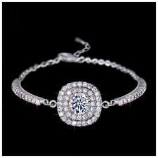 DF101 Made With Swarovski Crystals 4 Carat Square Stone Bracelet $99