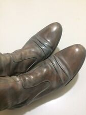 Sz 41 $450 Amazing Coclico Boots Italian Leather Gray Wash