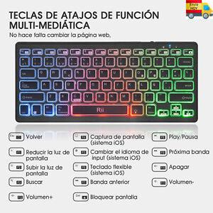 NUEVO TECLADO PC BLUETOOH MINI COMPATIBLE ANDROID IPAD ESPAÑOL Ñ ENVIAMOS HOY