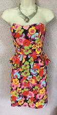 Robe Bustier Fleurs Colorées NEW LOOK T 38