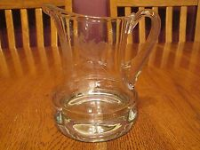 Lovely Krosno Poland Clear Columbine Flower Etched Glass Creamer