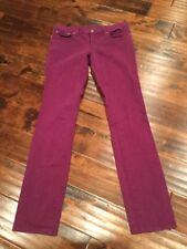 "Tory Burch ""Ivy Super Skinny"" Fuchsia Purple Jeans Size 28"