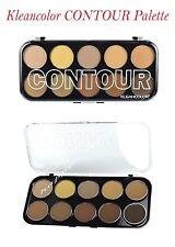 Kleancolor Contour Palette - 10 Color Powder Contour! - shaping and defining