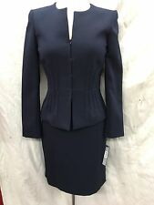 TAHARI BY ARTHUR LEVINE SKIRT SUIT/SIZE 12P/RETAIL$280/NAVY/LINED/NEW WITH TAG