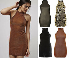 Halterneck Sleeveless Stretch, Bodycon Dresses