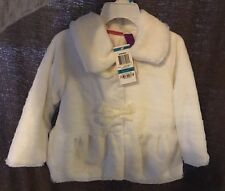 GREENDOG WHITE FAUX FUR WINTER COAT JACKET 24 MONTHS DRESS DRESSY GIRLS TODDLER