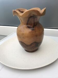 Teak Root Wooden Vase Hand Turned Teak Vase Beautiful Real Wood