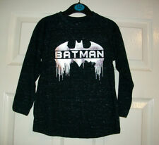 BOYS BLACK LONG SLEEVE DC COMICS BATMAN TOP AGE 3-4 YEARS BNWT