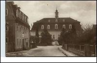 Herrnhut Sachsen Postkarte ~1920/30 Dorfpartie an der Kirche ungelaufen