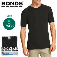 Bonds Multi Pack V Neck Raglan Blank Plain Basic Mens Black T‑shirt Tee Top