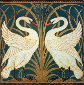 Walter Crane White Swans Ceramic Wall Tiles  Kitchen Bathroom  2 Different Sizes