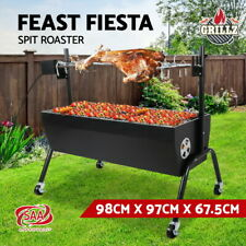 Grillz Electric Rotisserie Charcoal BBQ Smoker Grill Spit Roaster Outdoor Burner