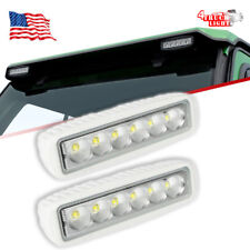 "Pair 36W 6"" LED Single Row Light Bar White Flood Curtis Cabs John Deere Tractor"