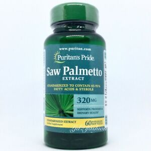 SAW PALMETTO STANDARDIZED EXTRACT 320 MG. 60 RAPID RELEASE SOFTGELS. EXP: 09/21.