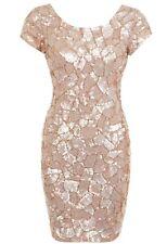 Miss Selfridge con Cuentas Vestido Adornado ~ hexagonal Mosiac ~ Talla 10 ~ RRP £ 150