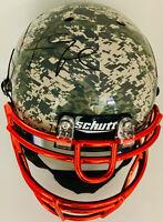 Chicago Khalil Mack Signed Authentic Camo Helmet - Auto BAS Beckett