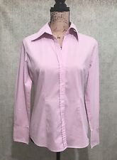 ⭐️ New York & Company ⭐️Woman's Small Pink Stretch Button-Up Career Shirt Blouse