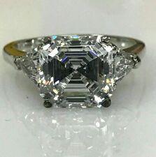 14k White Gold 3.00 ct Asscher-Cut Diamond Engagement Ring !!