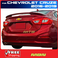 Painted Abs Rear Trunk Spoiler Red Hot Wa130x For Chevrolet Cruze 2016 2019 Fits Cruze