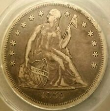 Nice Original 1859-O Seated Liberty Silver Dollar Graded by ANACS as an  EF-40