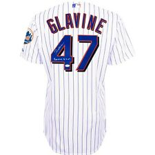 "Tom Glavine signed ""300 Wins 8/5/07 "" New York Mets Authentic Home Jersey - JSA"
