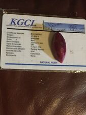51.35CT RED RUBY GEMSTONE NATURAL LOOSE MARQUIS CUT KGCL CERTIFIED B1478G2657