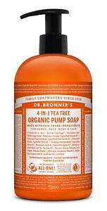 Dr Bronner Organic Shikakai Tea Tree Soap - 710ml