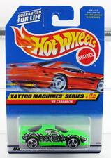 Hot Wheels 1997 Tattoo Machine Series 93 Camaro - MINT CAR FROM DEALERS CASE