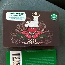 Starbucks Card 2021 Chinese New Year of the Ox Limited Edition New Unused Mint