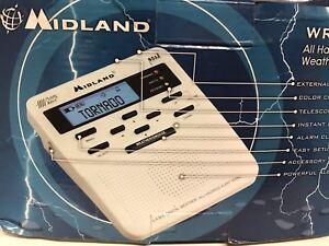 NOAA Midland All Hazard Weather Alert Radio WR-100 Snooze Alarm Clock