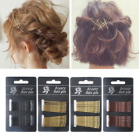 24PCS Hair Waved U Shaped Bobby Pin Barrette Grip Clip Gold Hair Pins Women New