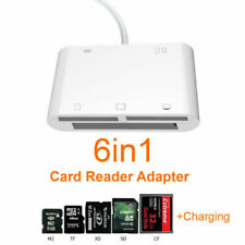 6in1 USB Memory Card Reader For iPad iPhone XR X 8 iOS 12 Camera Connection Kit