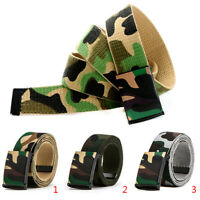 Fashion casual belt men and women canvas belt camouflage printing  *TRFR