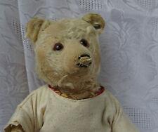 Steiff Teddy Baby mit geschlossenem Maul und Vorkriegsknopf stark bespielt