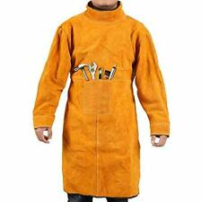 Welding Jacket Leather Apron Heavy-Duty Work Anti-scald Flame Resistant Large