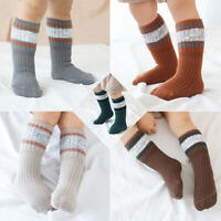 3*pairs Socks Baby Kids Winter Warm Min-calf Length Knee HighsThick Knit Cotton