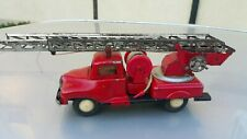 VINTAGE TOY TRUCK FRICTION FIRETRUCK TIN METAL PLASTIC RUBBER POLAND DDR GDR
