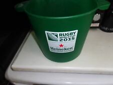 heineken 2015 rugby world cup ice bucket + bottle opener pub/bar/mancave