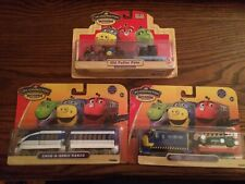 Chuggington Wood Trains Lot #407 Old Puffer Pete Brewster w/ digger Chug Hanzo