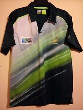 SOUTH AFRICA 2015 RUGBY WORLD CUP POLO SHIRT SIZE M/L SPRINGBOKS ORIGINALS VGC