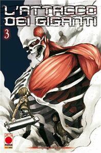 Planet Manga - L'Attacco dei Giganti 3 - Ristampa - Nuovo !!