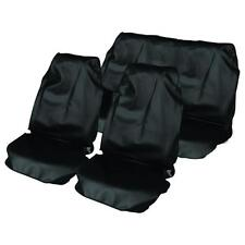 BLACK CAR WATER PROOF FRONT & REAR SEAT COVERS FOR KIA SORENTO 03 on