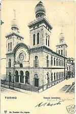 CARTOLINA d'Epoca: JUDAICA postcard : TORINO Sinagogue