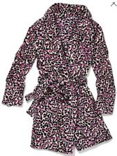 VICTORIA'S SECRET SOFT COZY ROBE SLEEPWEAR MEDIUM LARGE IN HEART LEOPARD PRINT